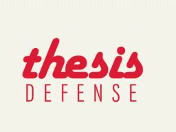 Thesis defense how to